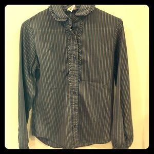Vintage, Ruffle, Button-Down, by Wrangler